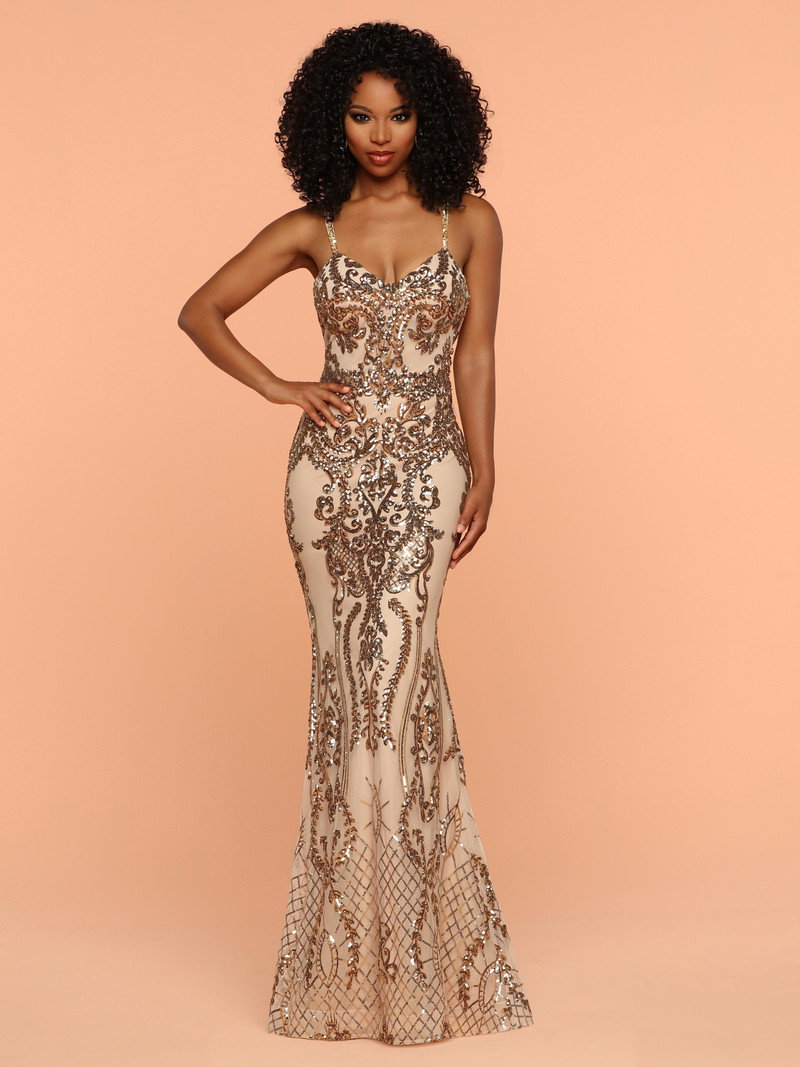 Front View of Sparkle Prom Style #71905