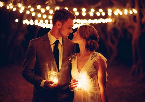 Romantic Glam Evening Wedding