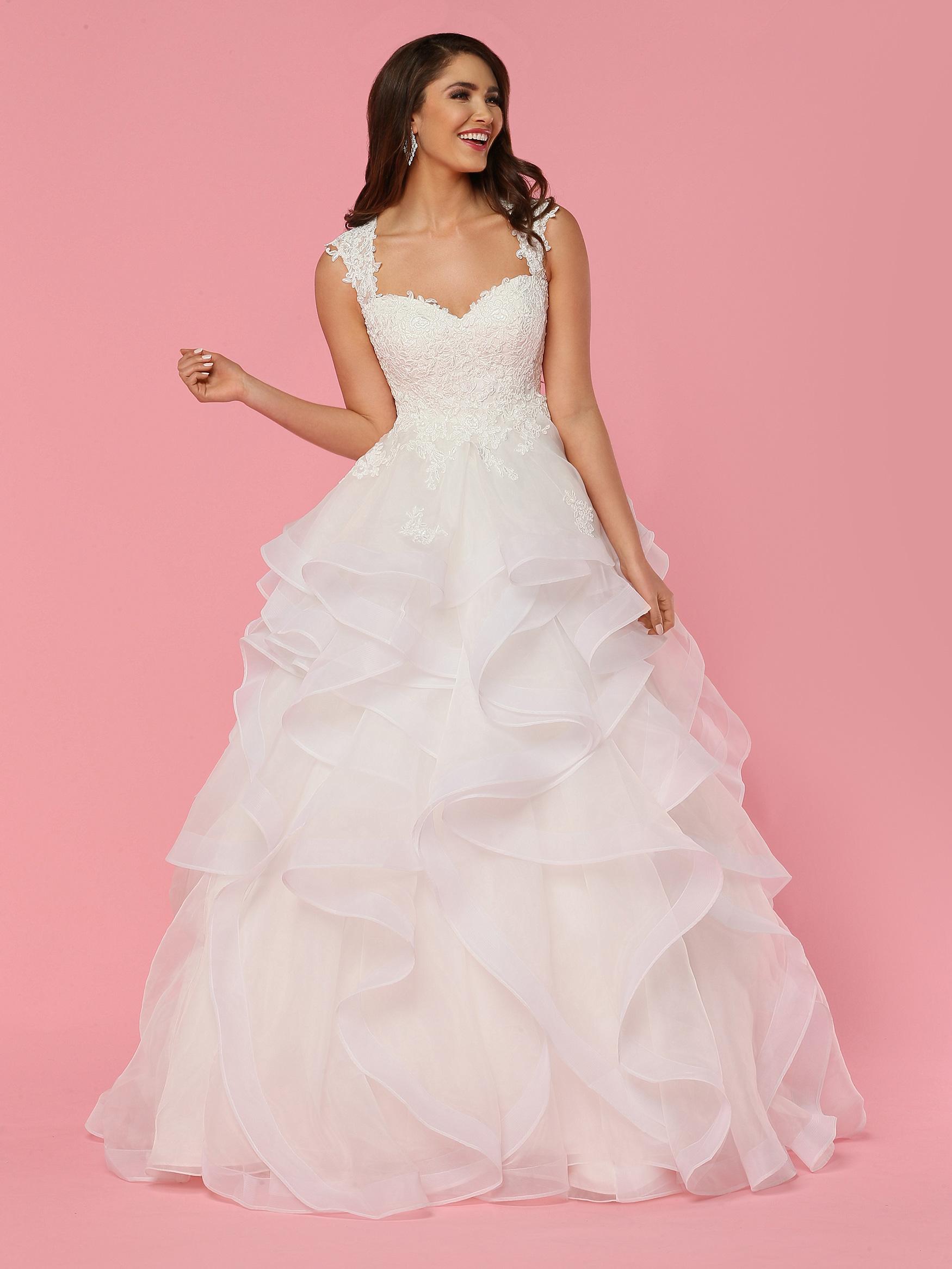 Ruffled Wedding Dresses Style #50442