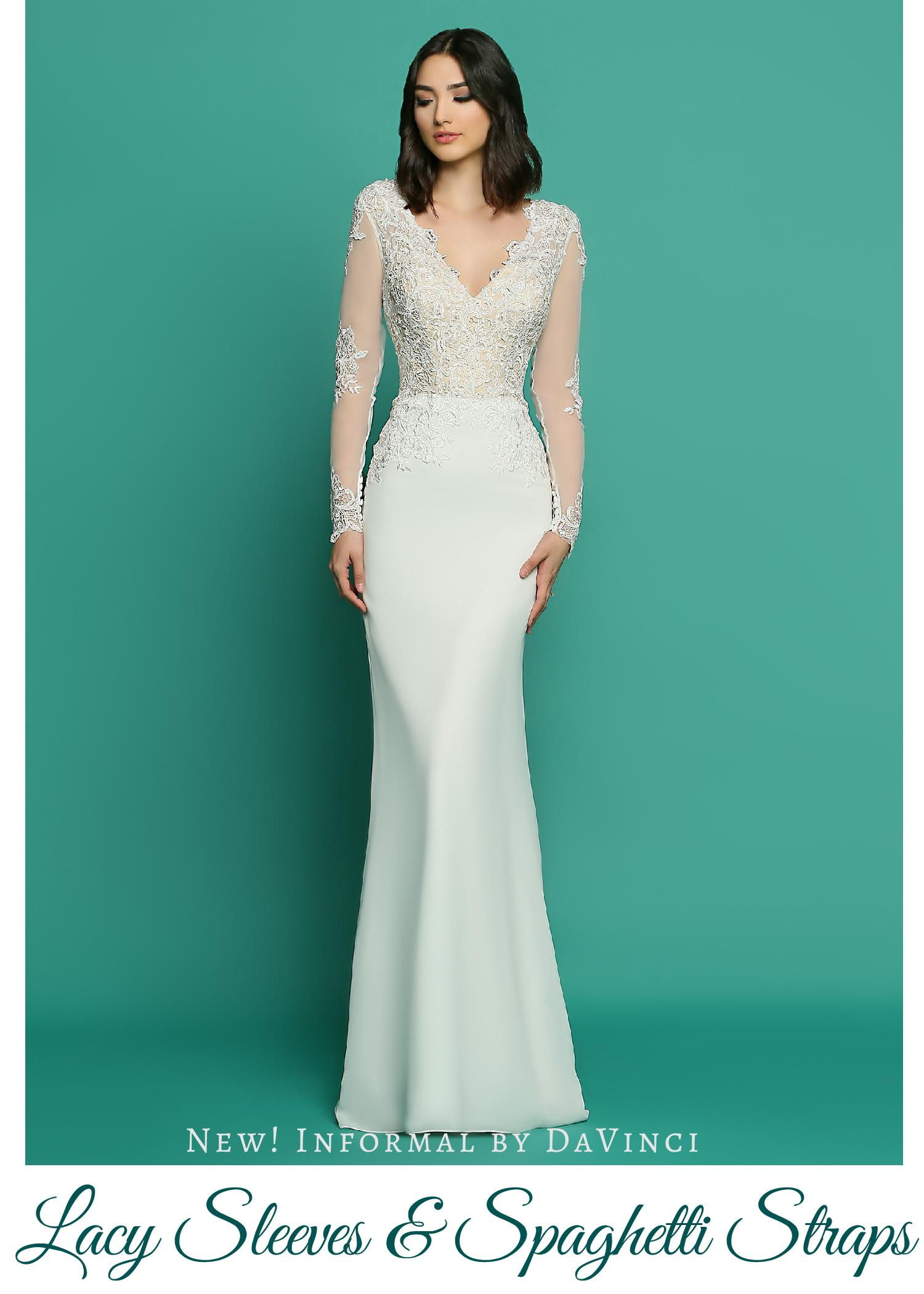 New! Wedding Dresses from Informal by DaVinci_ Lacy Sleeves ...