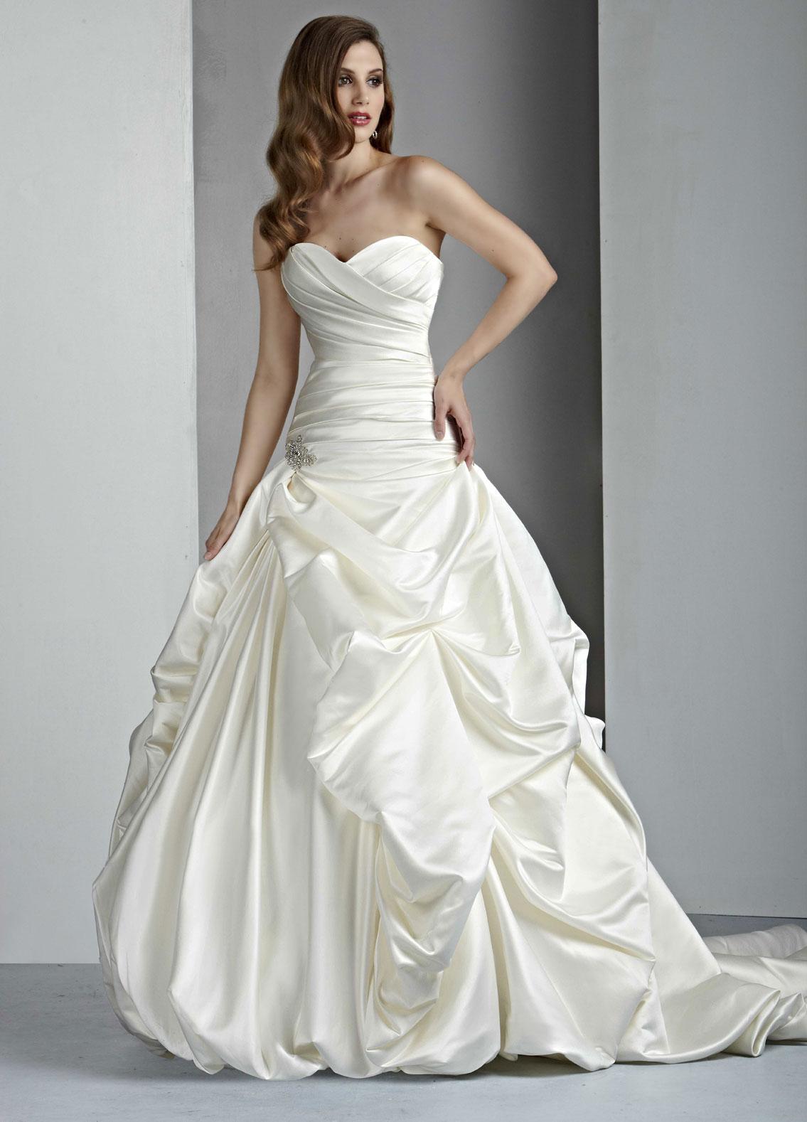 Ruffled Wedding Dresses Style #50004