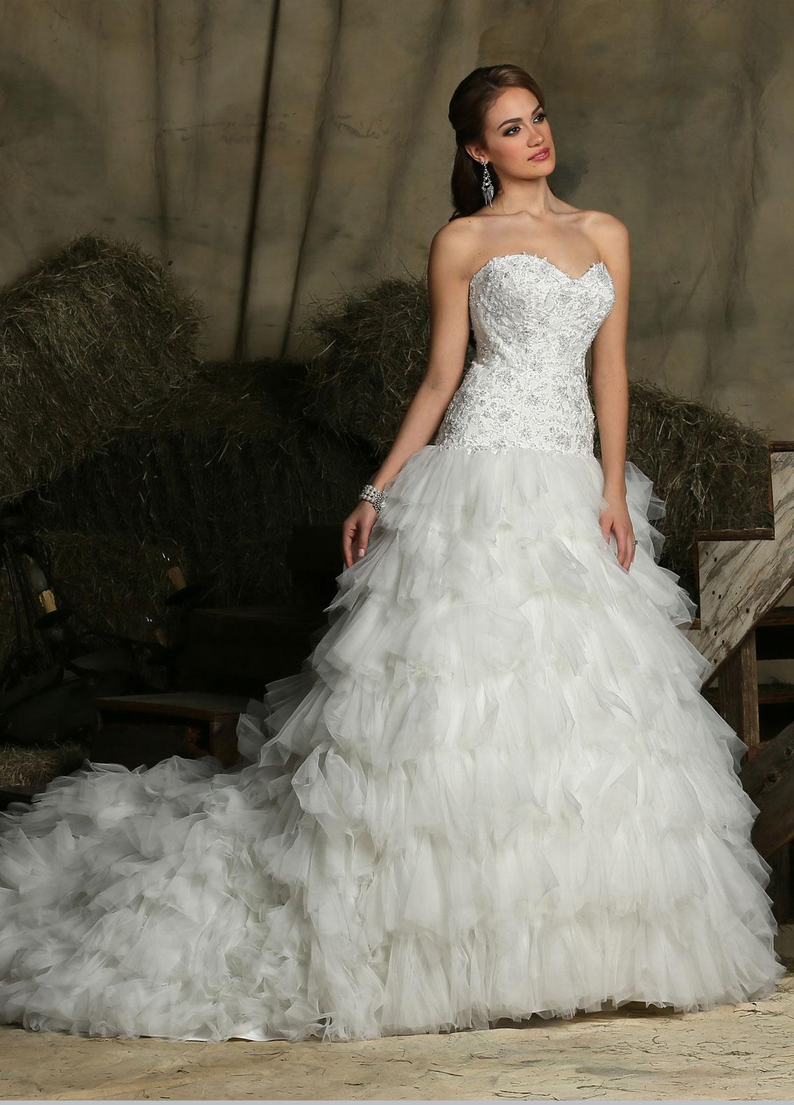 Ruffled Wedding Dresses Style #50325