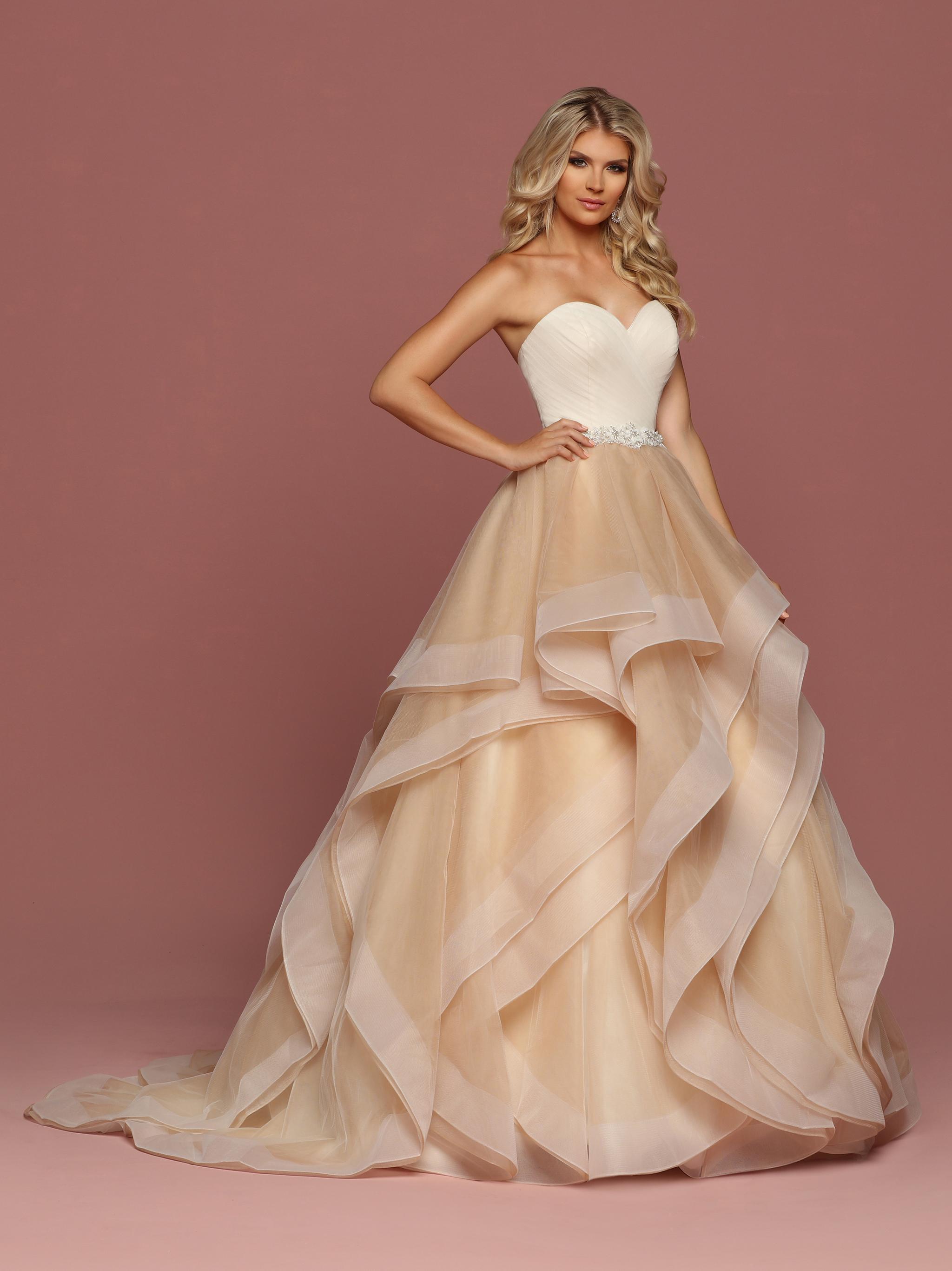 Ruffled Wedding Dresses Style #50489