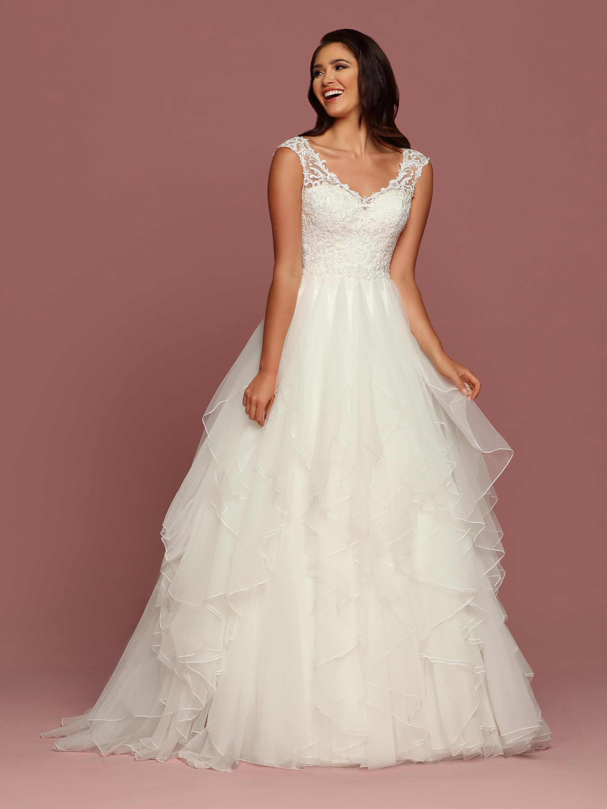 Ruffled Wedding Dresses Style #50501