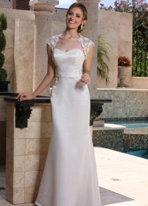 Wedding Dresses with Sleeves & Jackets Style #F7005