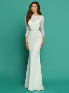 Wedding Dresses with Sleeves & Jackets Style #F7061