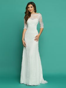 Wedding Dresses with Sleeves & Jackets Style #F7068
