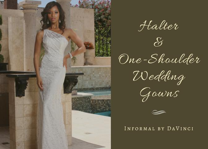 Halter & One Shoulder Wedding Gown
