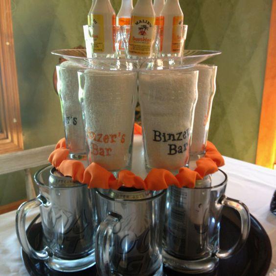 Mini Liquor & Beer Mug Tier Cake
