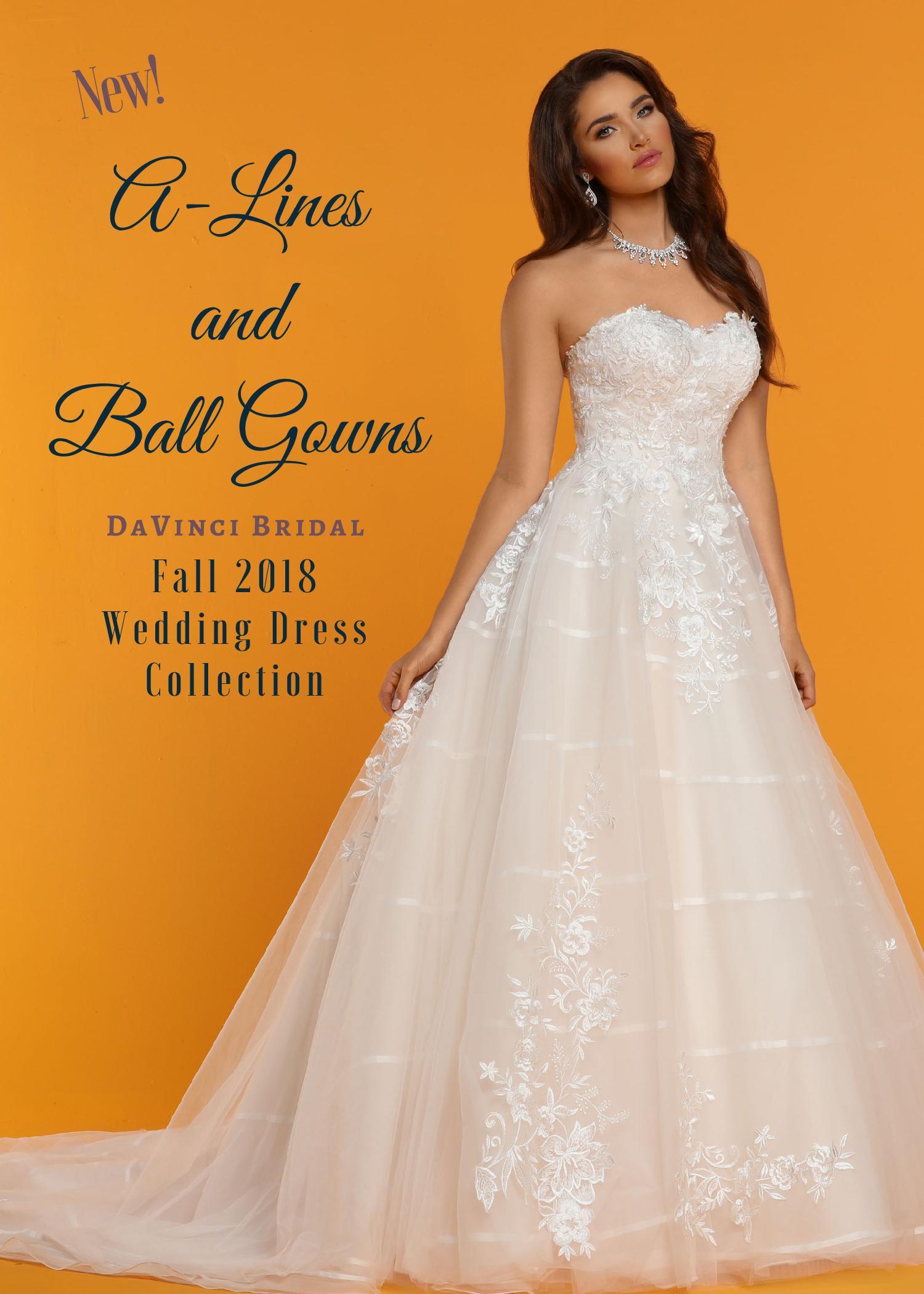 A-Line & Ball Gowns Fall 2018   DaVinci Bridal Blog