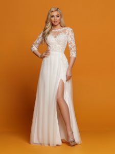 Wedding Dresses with Sleeves & Jackets Style #F7083