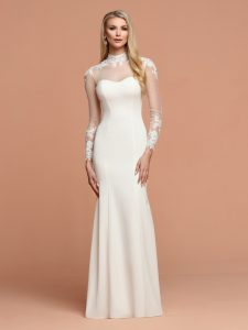 Wedding Dresses with Sleeves & Jackets Style #F115