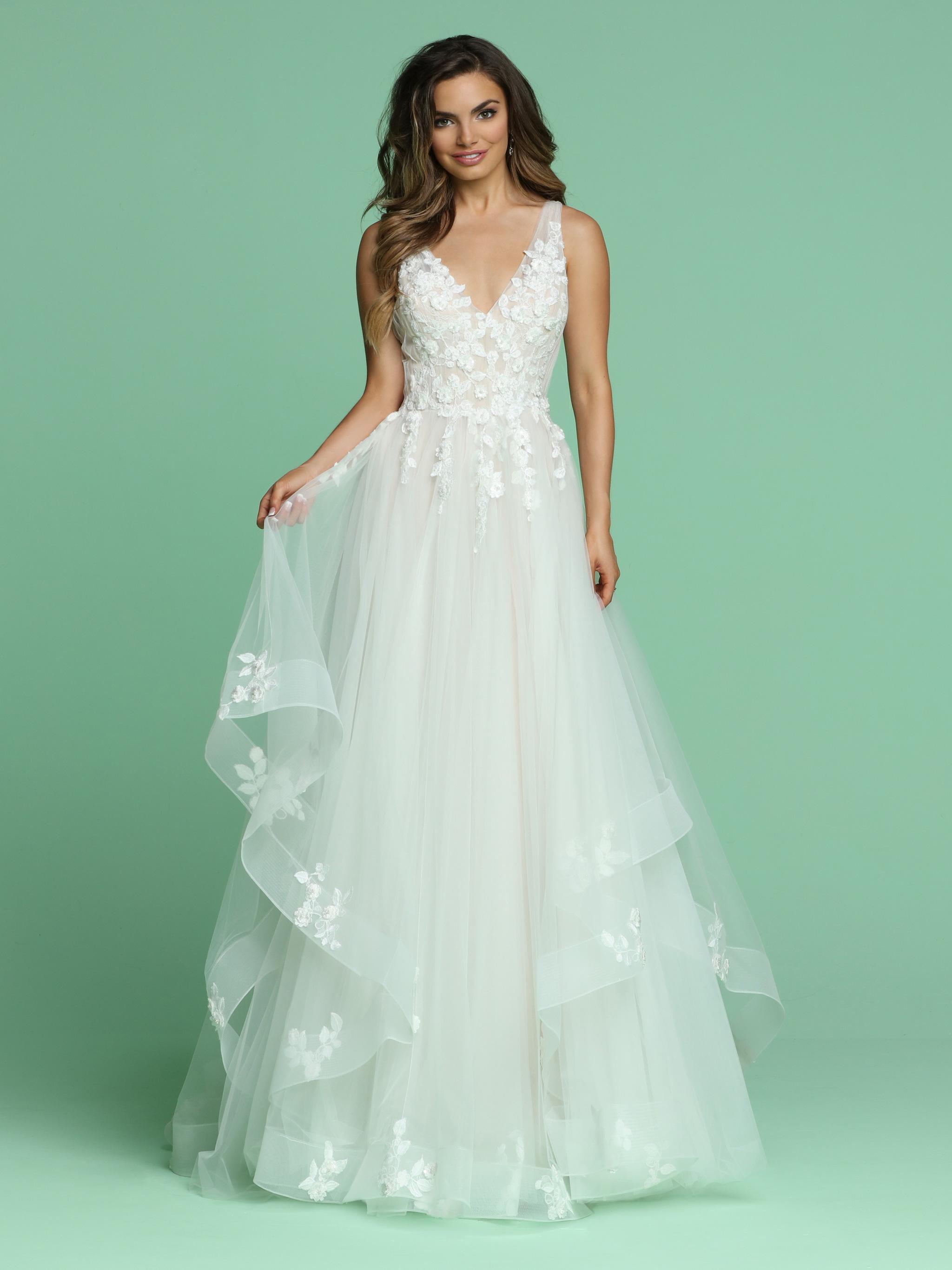 Ruffled Wedding Dresses Style #50601