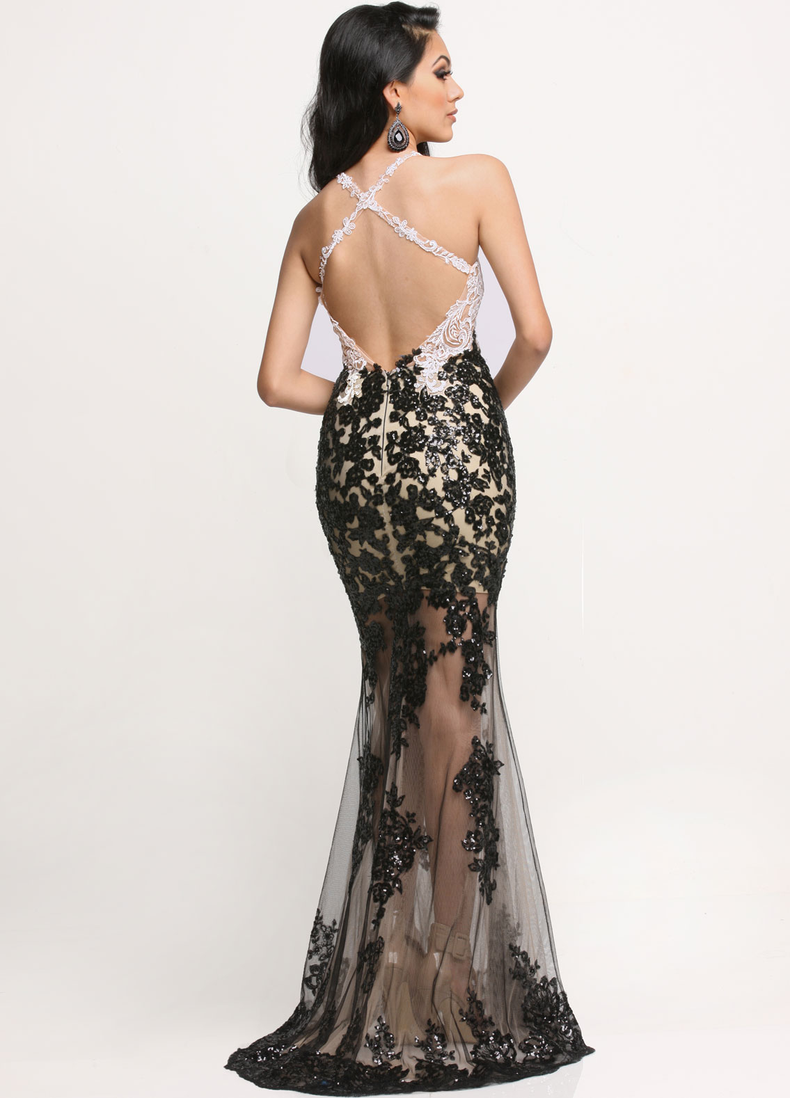 Image showing back view of style #71649