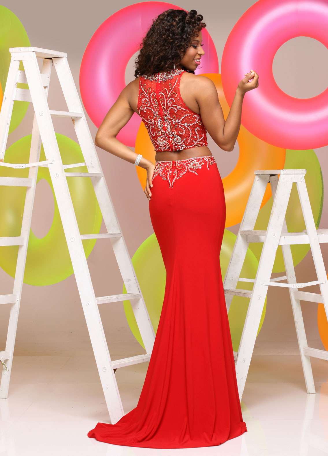 Image showing back view of style #71564