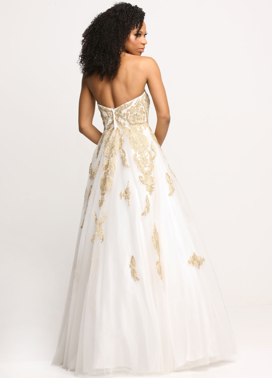 Image showing back view of style #71634