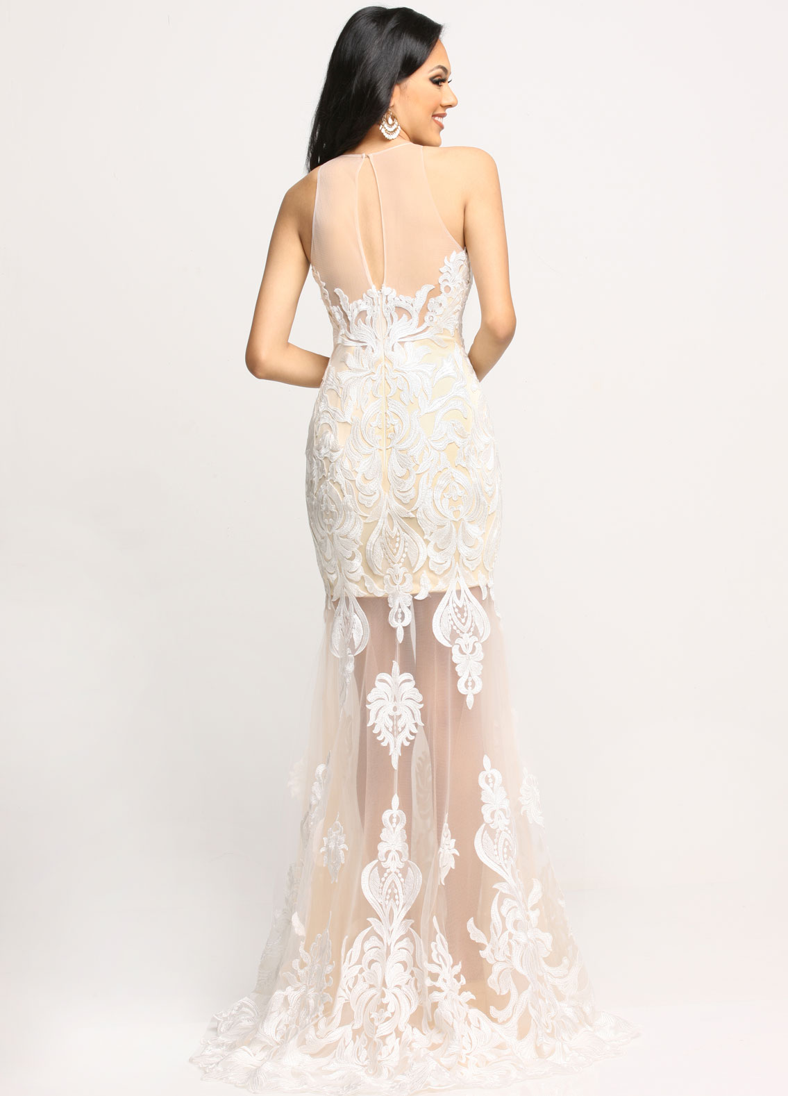 Image showing back view of style #71676