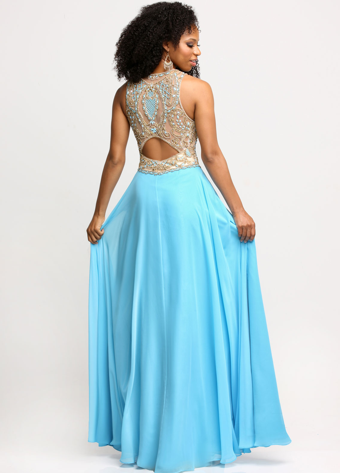 Image showing back view of style #71687