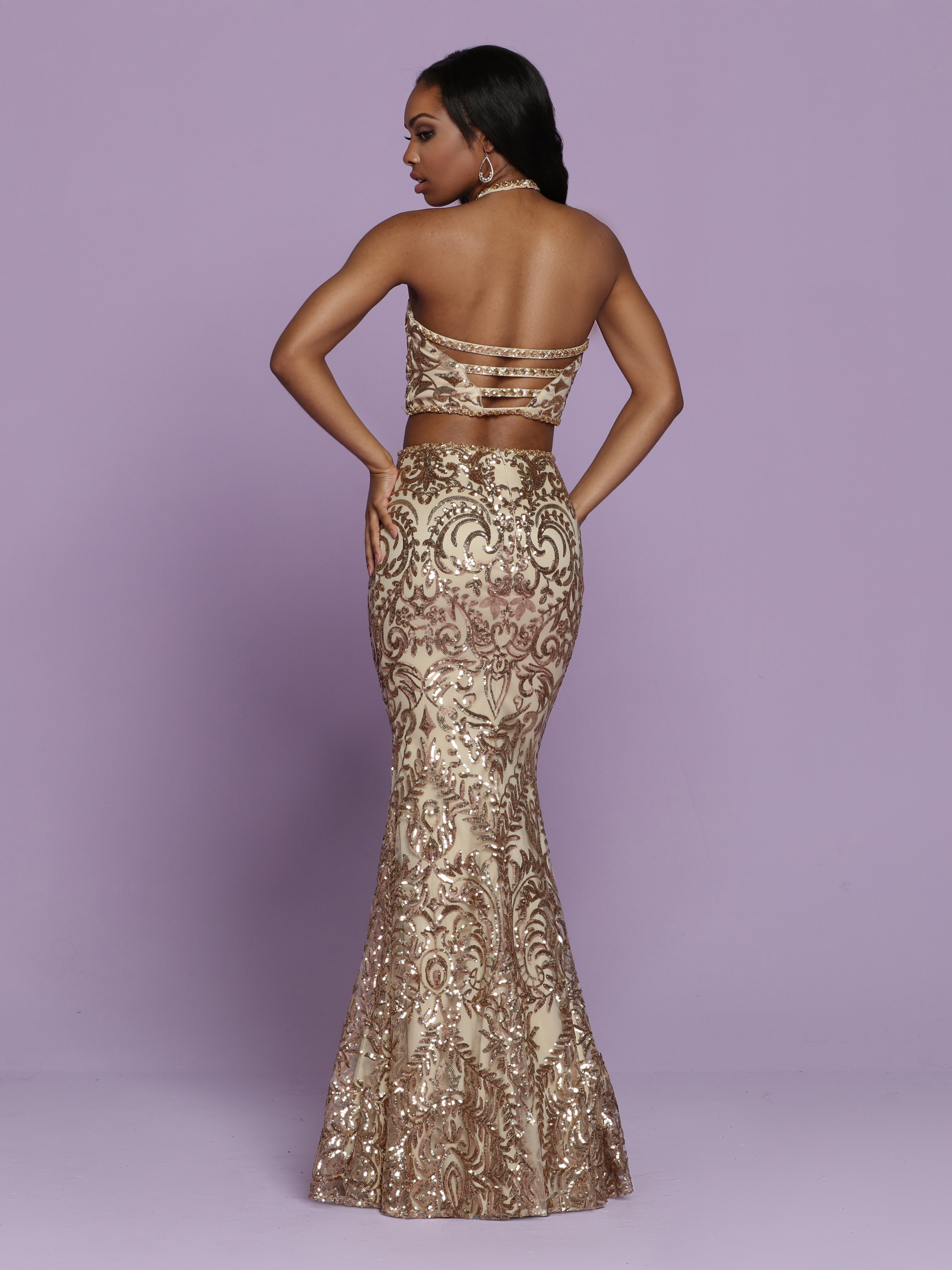 Image showing back view of style #72045