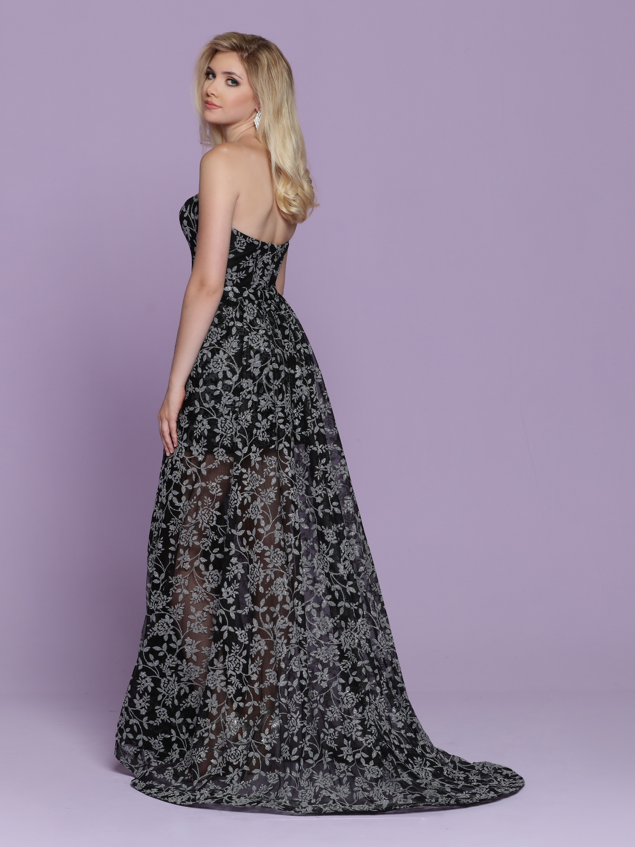 Image showing back view of style #72077
