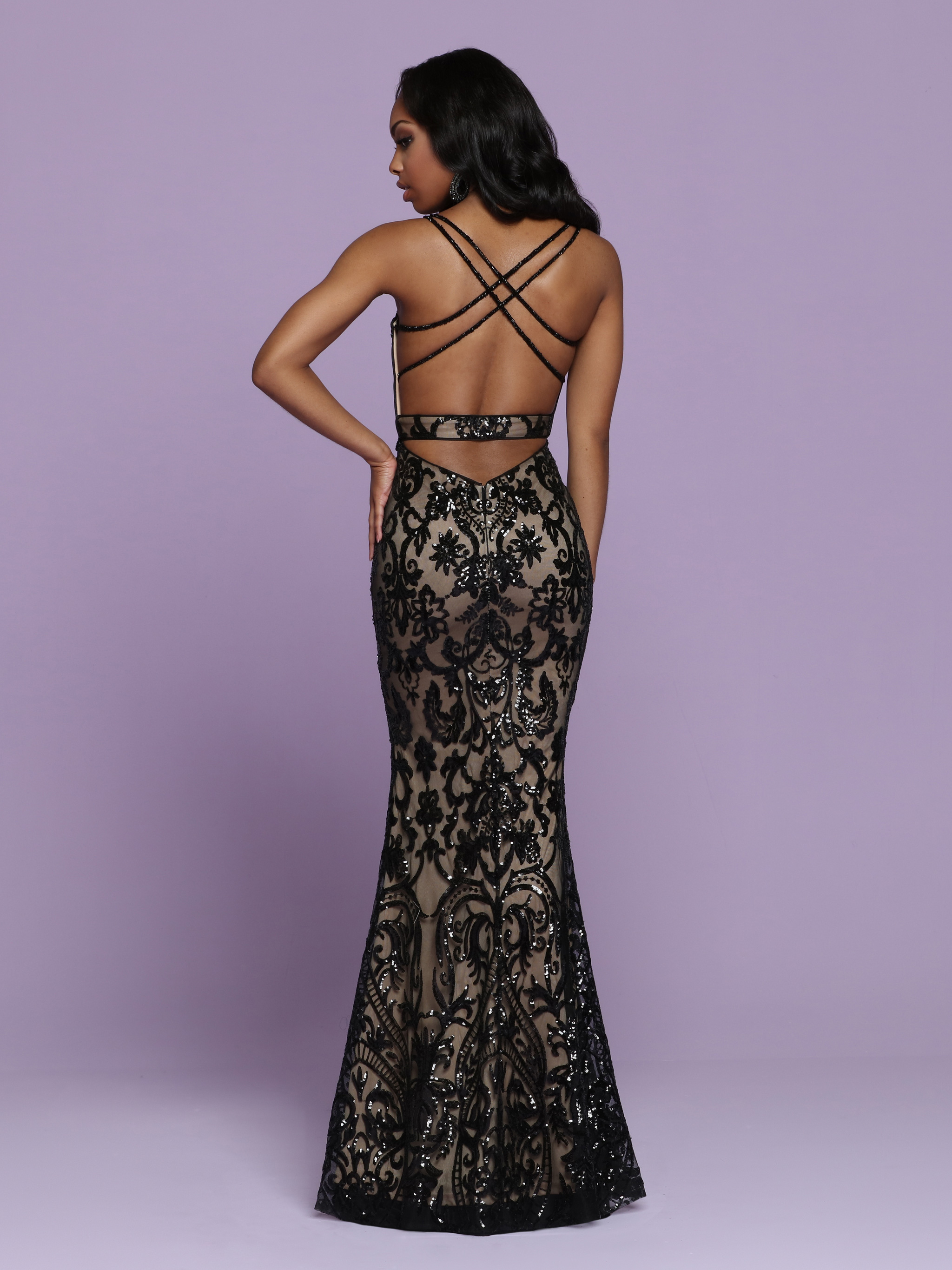 Image showing back view of style #72085
