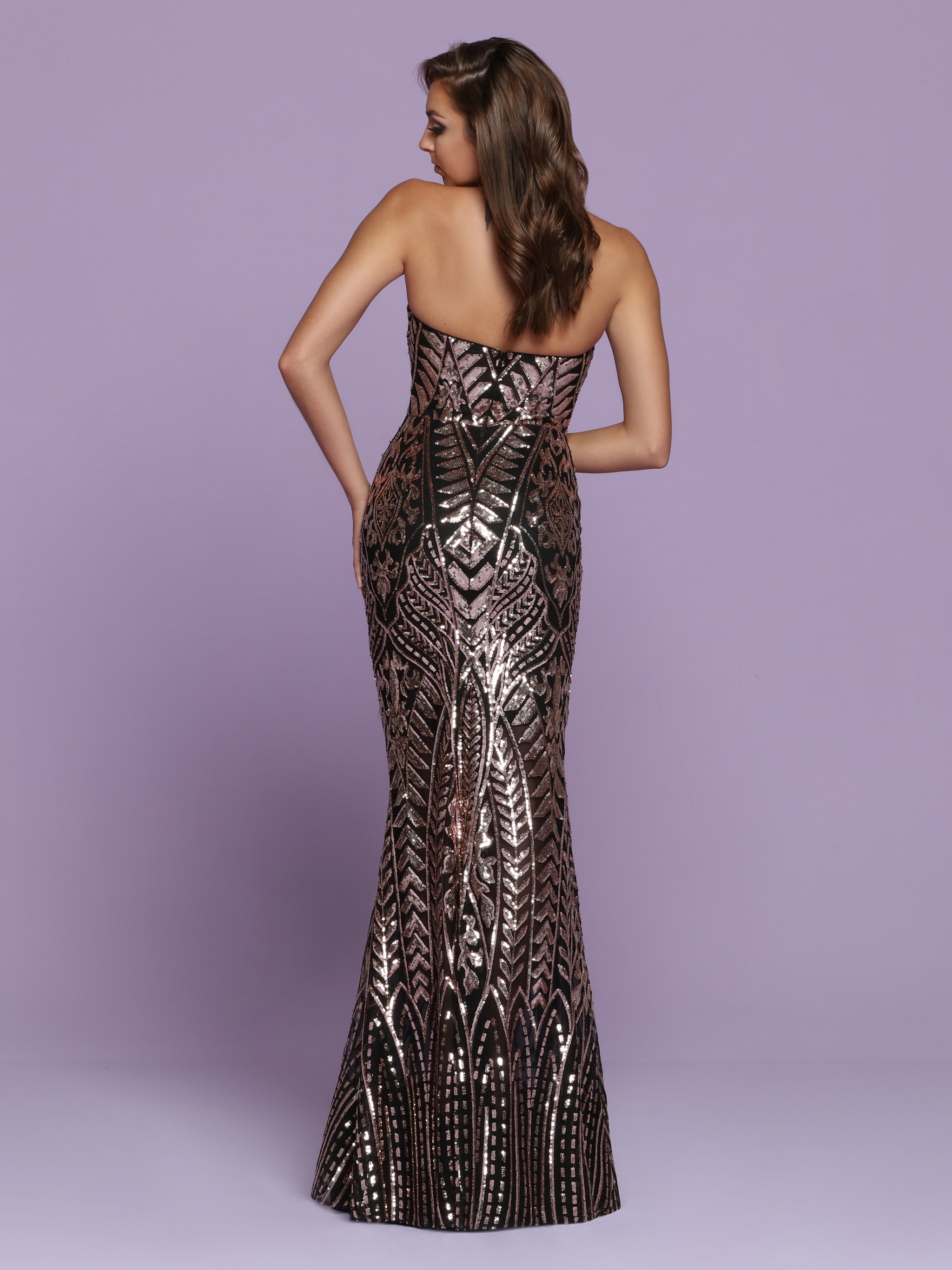 Image showing back view of style #72117