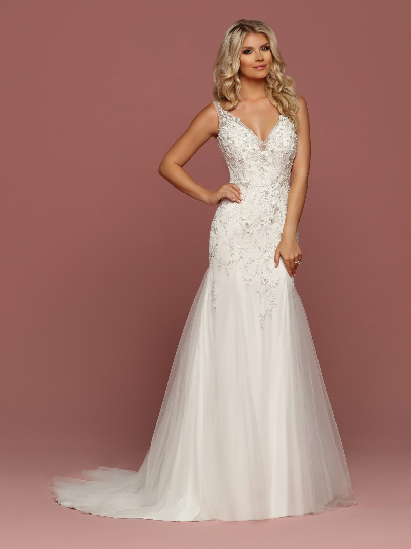 Front View Of Style 50484: Sparkle Wedding Dress Princess Style At Reisefeber.org